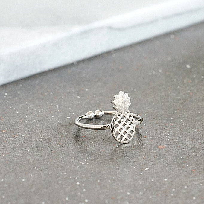 Pineapple Silver Ring