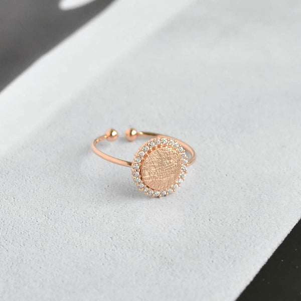Bague Ronde Diamantée - Or Rose