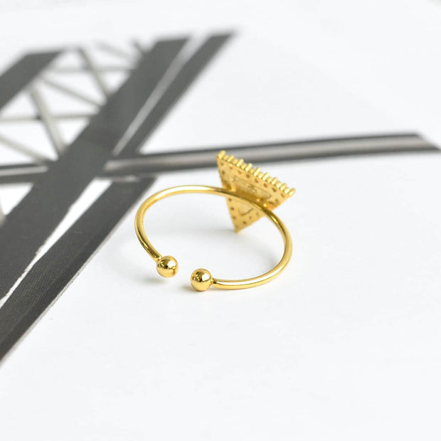 Bague Triangle Diamanté - Or