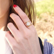 Bague Moonlight Or - Marbre Blanc
