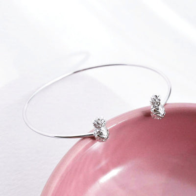 Bangle Ananas - Plaqué Rhodium - Bijoux Majolie