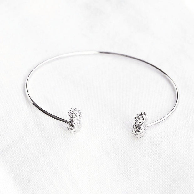 Bangle Ananas - Plaqué Rhodium