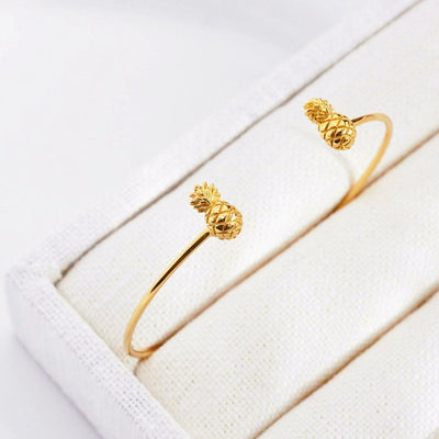 Bangle Ananas - Plaqué Or 18K - Bijoux Majolie