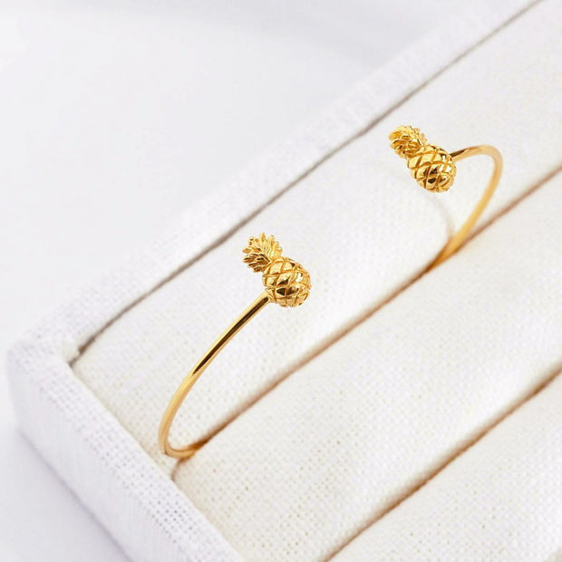 Bangle Ananas - Plaqué Or 18K