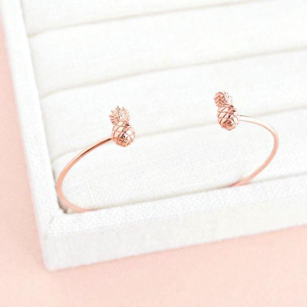 Bangle Ananas - Plaqué Or Rose 18K