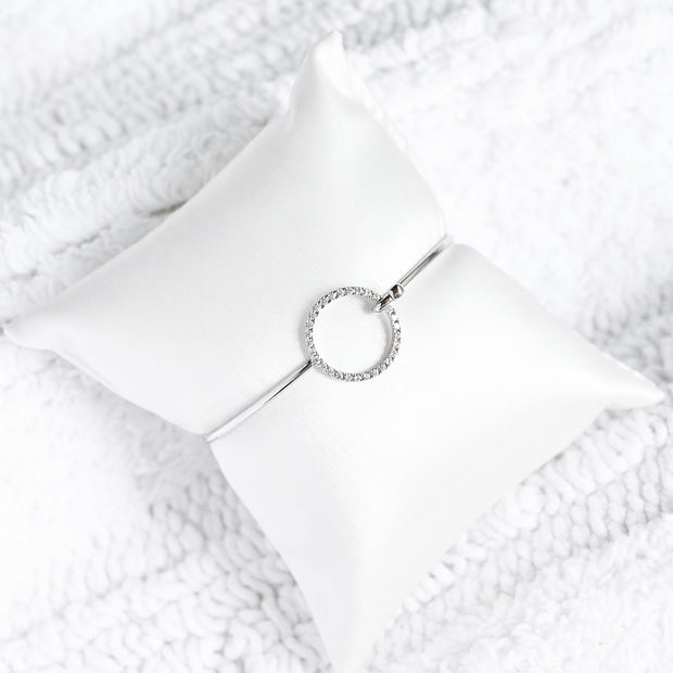 Bangle Cercle Diamanté - Argent - Bijoux Majolie