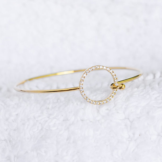 Bangle Cercle Diamanté - Or