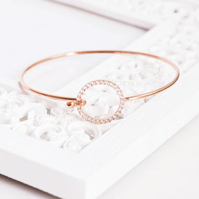 Bangle Cercle Diamanté - Or Rose - Bijoux Majolie