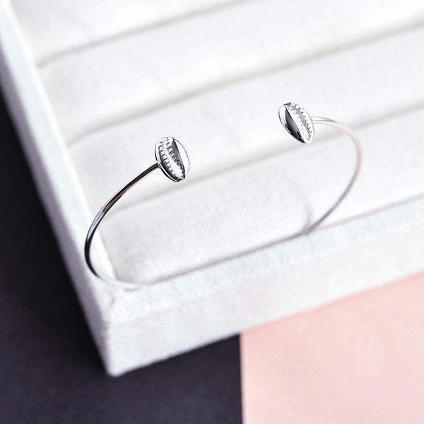 Bangle Coquillage - Plaqué Rhodium