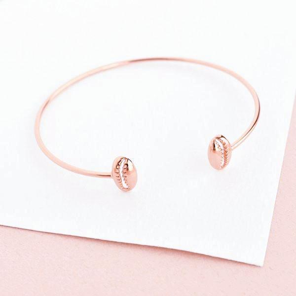 Bangle Coquillage - Plaqué Or Rose 18K