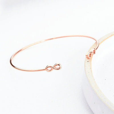 Bracelet Jonc Infini - Or Rose 18K