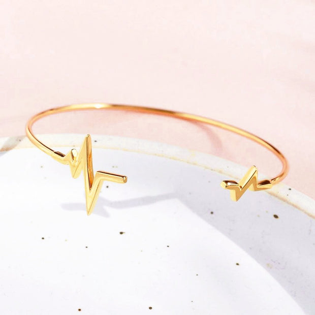 Bangle Heartbeat - Plaqué Or 18K