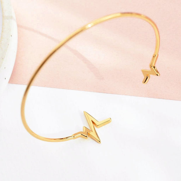 Bangle Heartbeat - Plaqué Or 18K - Bijoux Majolie