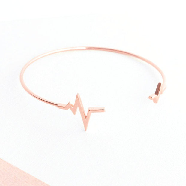 Bangle Heartbeat - Plaqué Or Rose 18K - Bijoux Majolie