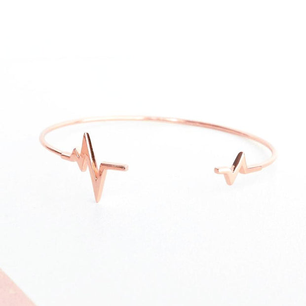 Bangle Heartbeat - Plaqué Or Rose 18K