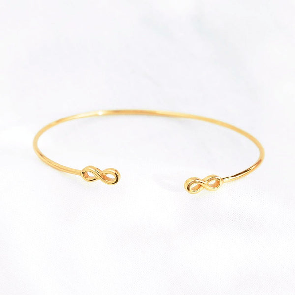 Bracelet Jonc Double Infini - Or 18K