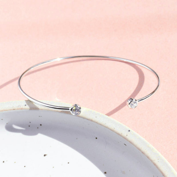 Bangle Lana - Plaqué Rhodium