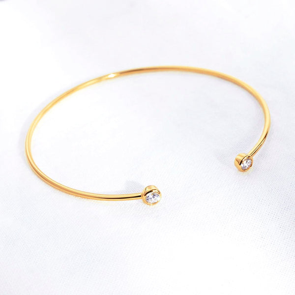 Bangle Lana - Plaqué Or 18K