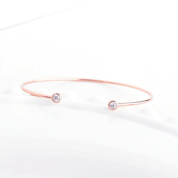 Bangle Lana - Plaqué Or Rose 18K