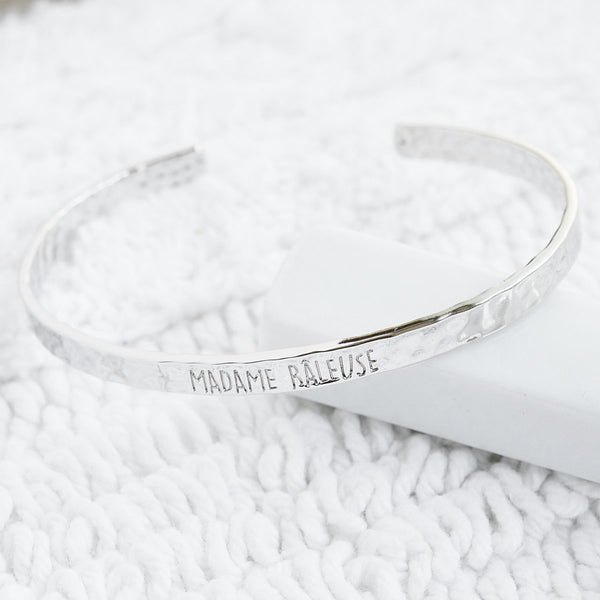 Bangle Madame Râleuse - Plaqué Rhodium