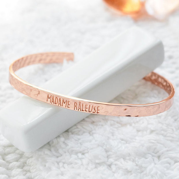 Bangle Madame Râleuse - Plaqué Or Rose 18K