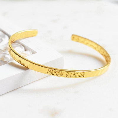 Bangle Maman D'Amour - Plaqué Or 18K