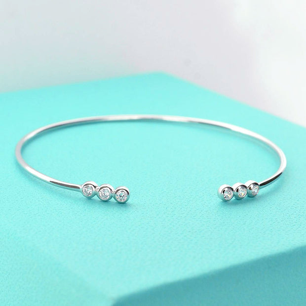 Bangle Mignon - Plaqué Rhodium - Bijoux Majolie