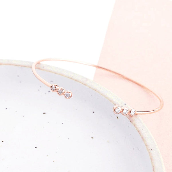 Bangle Mignon - Plaqué Or Rose 18K