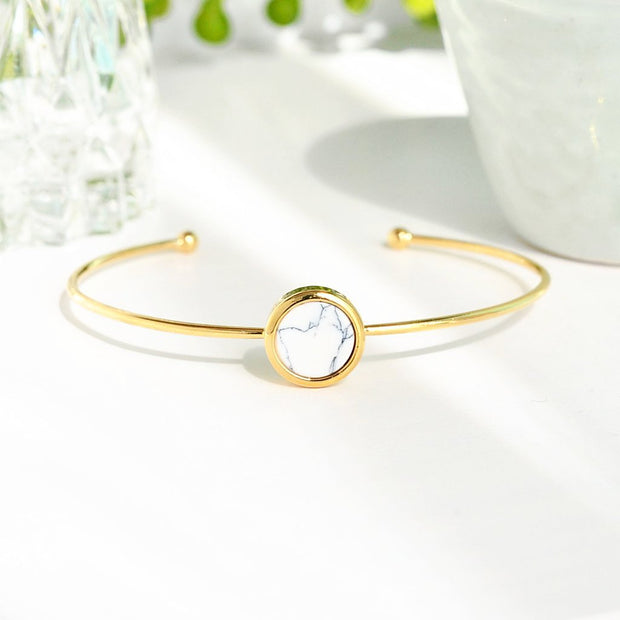 Bracelet Moonlight Or - Marbre Blanc