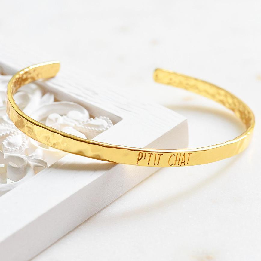 Bangle P'tit Chat - Plaqué Or 18K