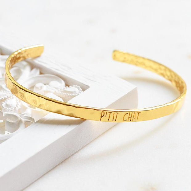 Bangle P'tit Chat - Plaqué Or 18K - Bijoux Majolie