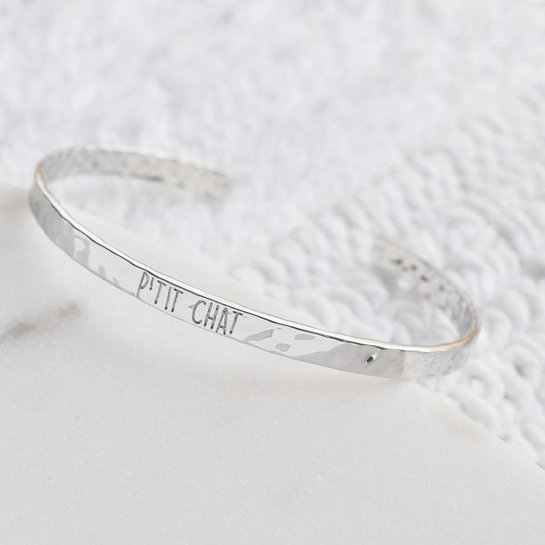 Bangle P'tit Chat - Plaqué Rhodium