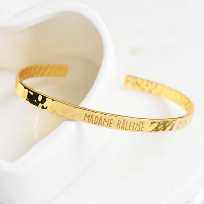 Bangle Madame Râleuse - Plaqué Or 18K - Bijoux Majolie