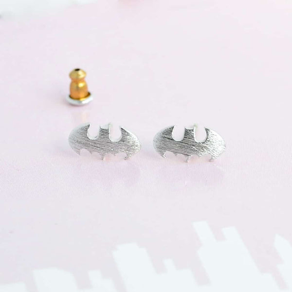 Batman Silver Earrings