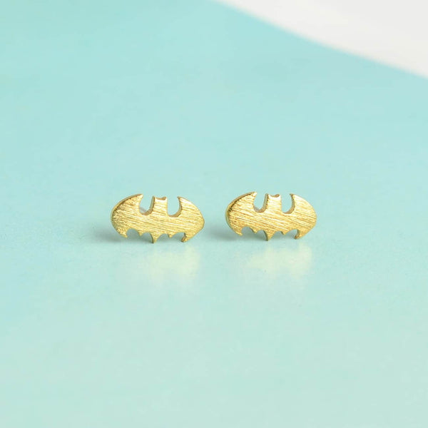 Batman Gold Earrings