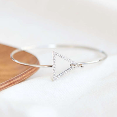 Bangle Triangle Diamanté - Argent - Bijoux Majolie