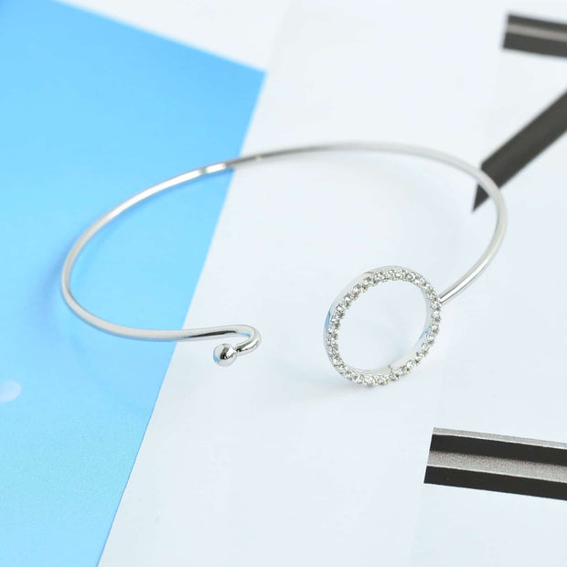 Bangle Cercle Diamanté - Argent