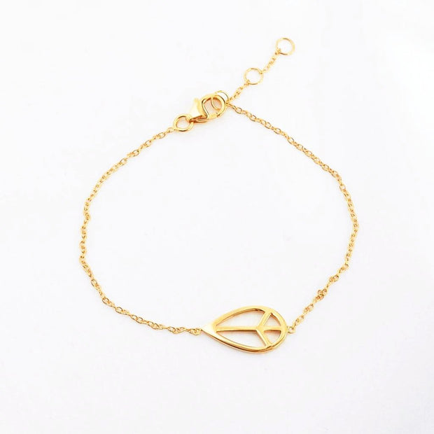 Bracelet Peace - Plaqué Or 18K