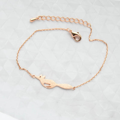 Bracelet Running Fox - Or Rose
