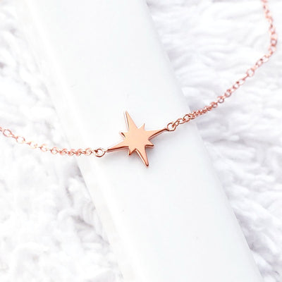 Bracelet Star - Plaqué Or Rose 18K