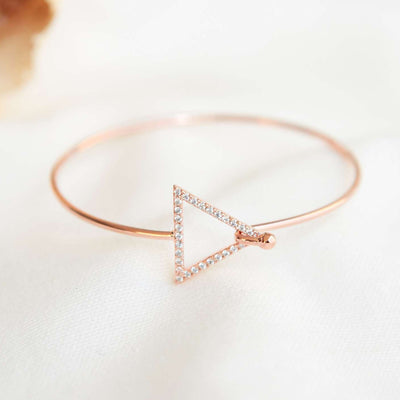 Bangle Triangle Diamanté - Or Rose - Bijoux Majolie