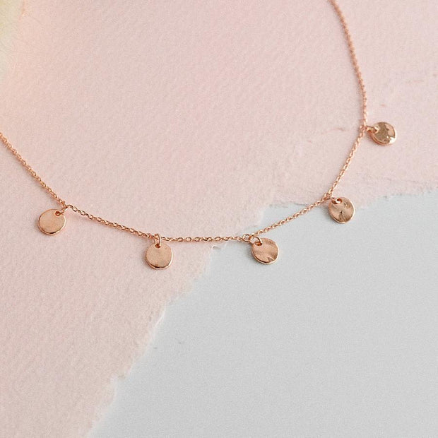 Collier Dunya - Or Rose