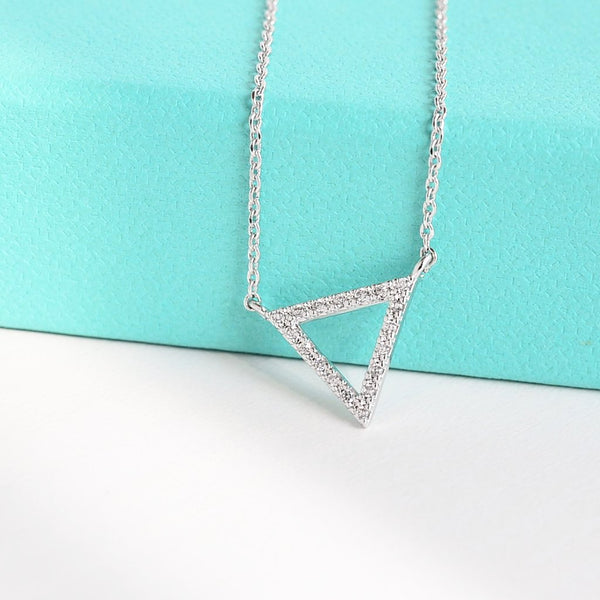 Collier Triangle Diamanté - Argent