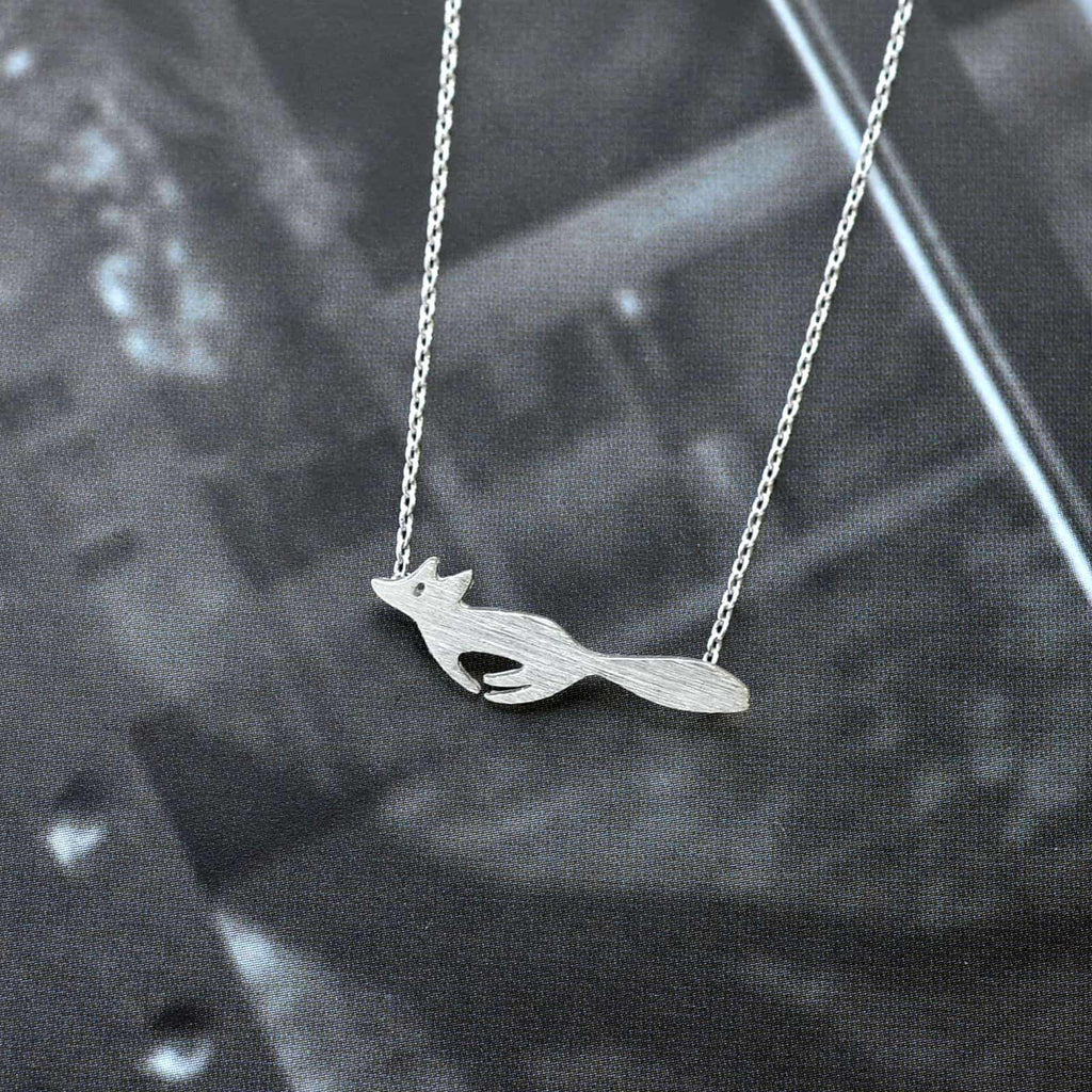 Running Fox Silver Necklace