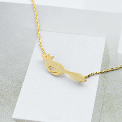 Collier Running Fox - Or