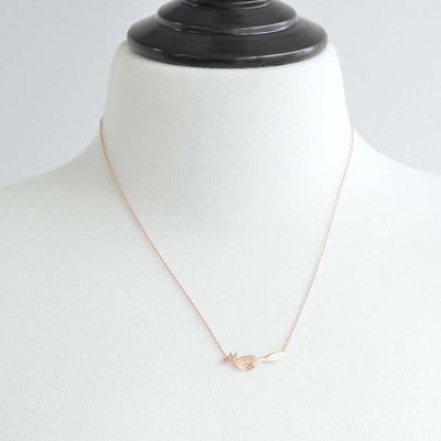 Collier Running Fox - Or Rose