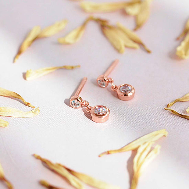 Boucles Erica - Plaqué Or Rose 18K