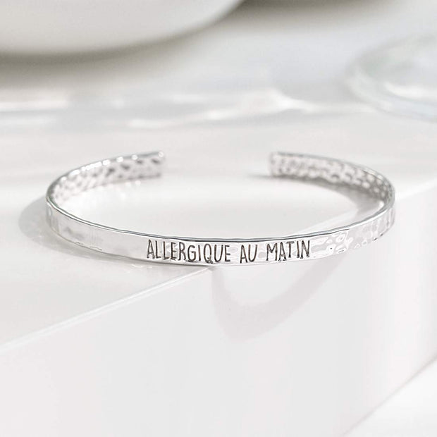 Bangle Allergique Au Matin - Plaqué Rhodium - Bijoux Majolie
