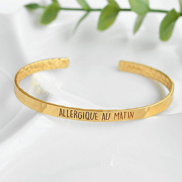 Bangle Allergique Au Matin - Plaqué Or 18K