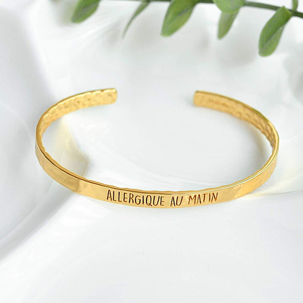 Bangle Allergique Au Matin - Plaqué Or 18K - Bijoux Majolie
